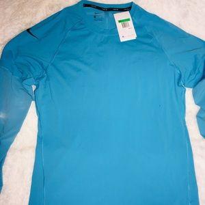 Nike Tech Blue Long Sleeve Men's Shirt sz XL